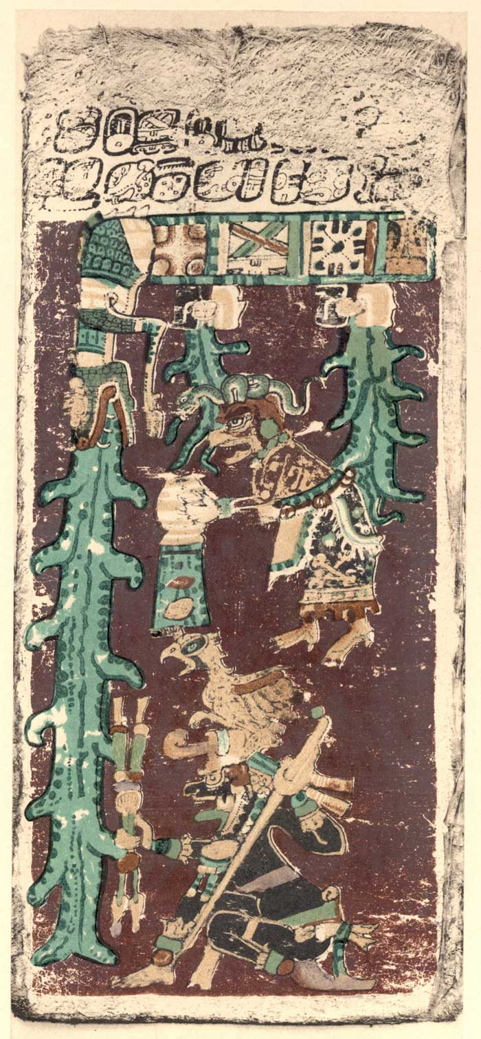 Last Page of Mayan Dresden Codex