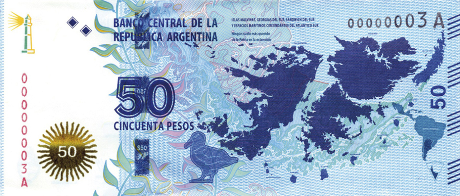 Argentinian 50 Peso Note