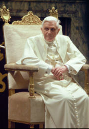 Pope Benedict XVI Sitting & Wearing White
