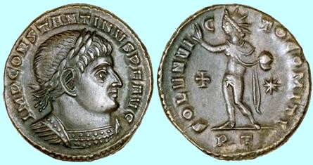 Constantine Coin Honoring Sun God