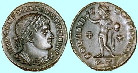 Constantine Coin Honoring Sun God