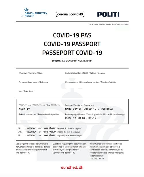 "ZH: Denmark Introducing COVID ""Vaccine Passport"""